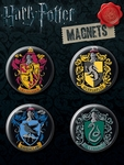 Hogwarts School House Crest Magnet Set