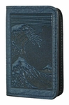 Hokusai Wave Leather Card Holder