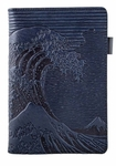 Hokusai Wave Notebook Portfolio