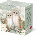 Holiday Owls Wrapped Soap