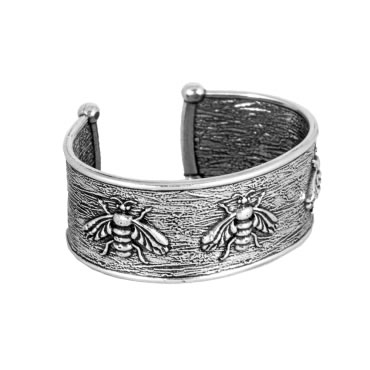 Honey Bee Pewter Cuff Bracelet