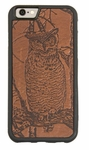 Horned Owl Leather iPhone Case
