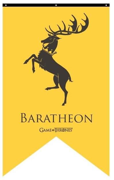 House Baratheon Banner: Flags & Banners: Game of Thrones ...