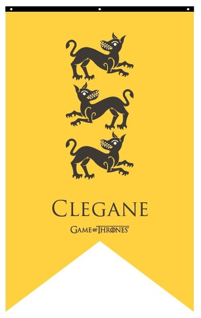 House Clegane Banner: Flags & Banners: Game of Thrones ...