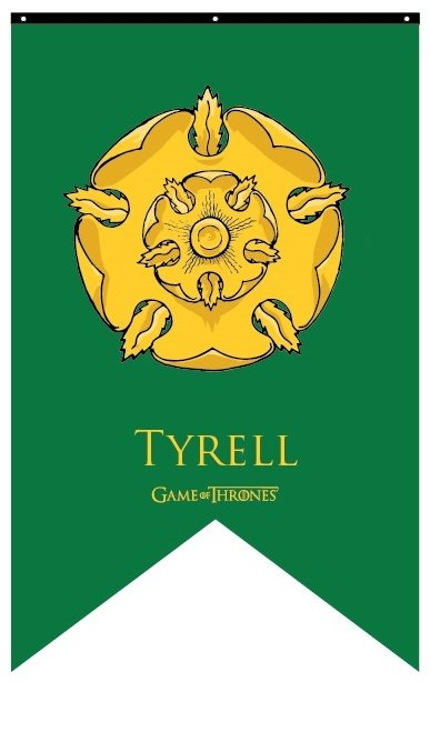 House Tyrell Banner: Flags & Banners: Game of Thrones Gifts ... on veterans emblems, the musketeers emblems, mgs4 emblems, freemasonry emblems, the last of us emblems, fire department emblems, steven universe emblems, international masons emblems, babylon 5 emblems, mario kart 8 emblems, grand theft auto v emblems, hunting emblems, lord of the rings emblems, all military emblems, secret society emblems, custom chrome emblems, marine raiders emblems, rubicon emblems, ns emblems, csi customer satisfaction emblems,