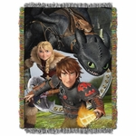 How To Train Your Dragon Tapestry Throw Blanket