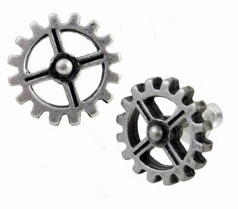 Industrilobe Cog Earrings