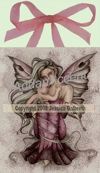 Innocence Fairy Wall Art Tile by Jessica Galbreth