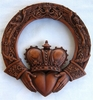 Irish Claddagh Celtic Wall Plaque