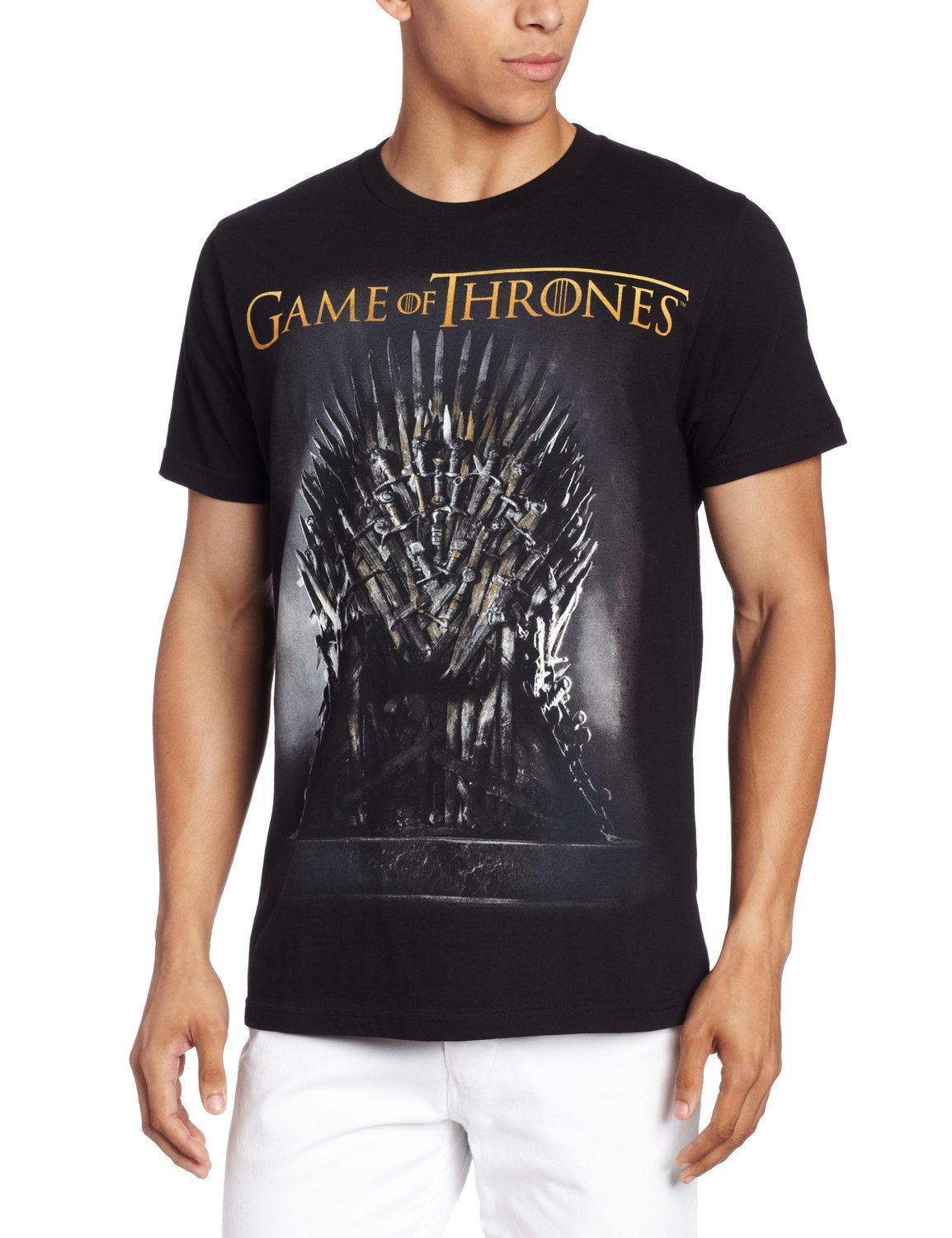 Iron throne t shirt game of thrones for Throne of games shirt