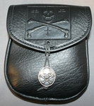 Jolly Roger Leather Belt Pouch (Medium)