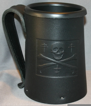 Jolly Roger Leather Mug