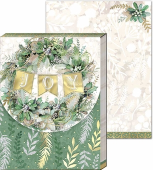 Joy Wreath Pocket Notepad