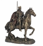 King Arthur on Horseback with Excalibur