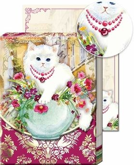 Kitten Vase Pocket Note Pad