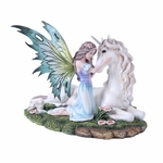 Kneeling Fairy with Unicorn