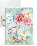 Koi & Lotus Mini Portfolio Notepad