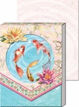 Koi Pond Diecut Window Pocket Notepad