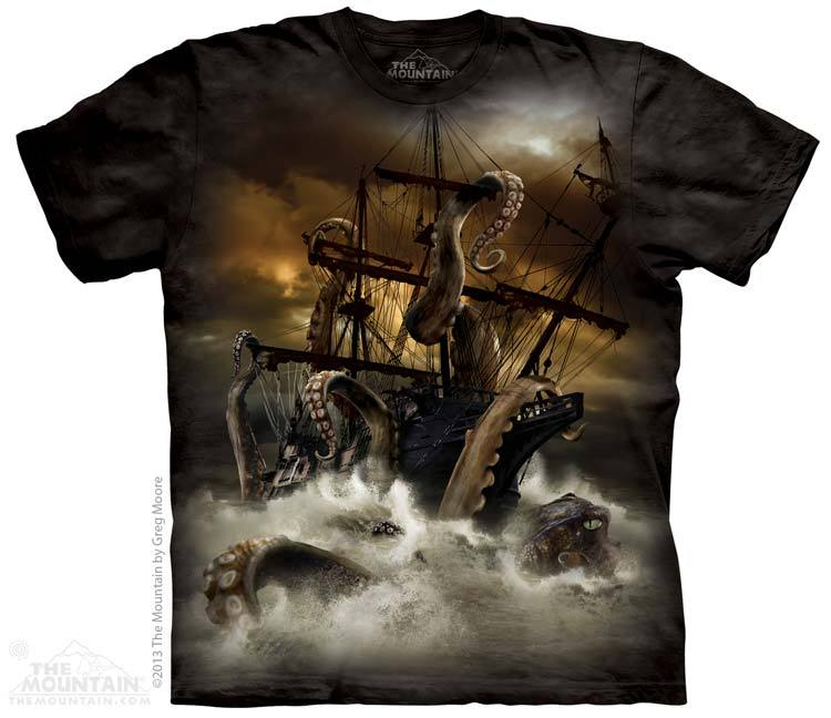 Kraken T-Shirt: Pirate Gifts: FairyGlen.com