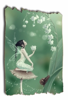 Lily of the Valley Tattered Wood Print