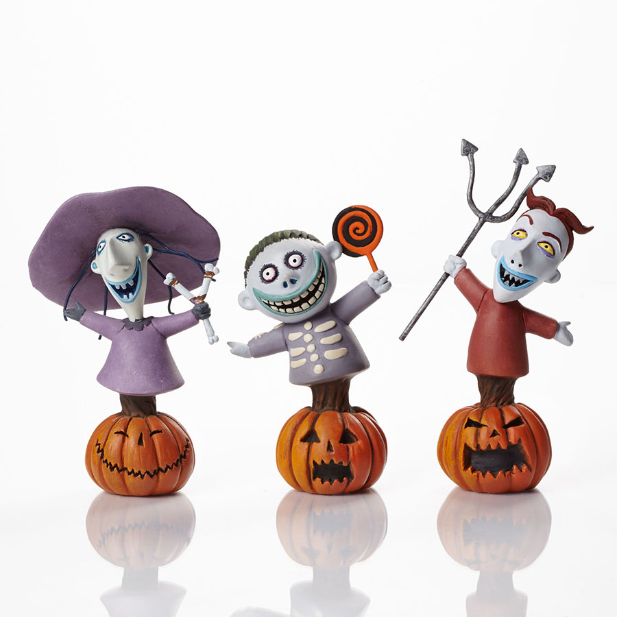 Lock, Shock and Barrel Nightmare Before Christmas Figurines