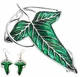 Lord of the Rings Leaf Necklace & Earrings