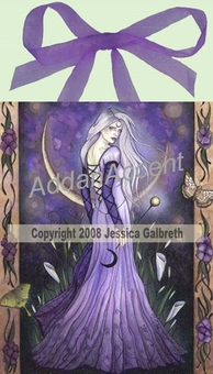 Maiden Moon Goddess Wall Art Tile by Jessica Galbreth