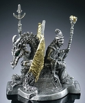 Majestic Rulers Pewter Wizard & Dragon