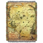Map of Middle Earth Tapestry Throw Blanket