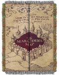 Marauder's Map Tapestry Throw Blanket