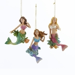 Mermaid Ornament Trio