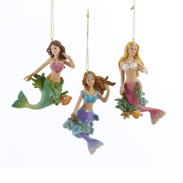 Mermaid Gifts Mermaid Decor Mermaid Art Print Mother S: Mermaid Ornament Trio: Mermaid Gifts: FairyGlen.com
