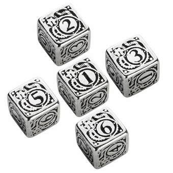 Metal Steampunk D6 Dice Set