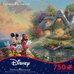 Thomas Kinkade Mickey & Minnie Puzzle (750 pcs)