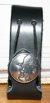 Moon & Stars <BR>Leather Mug Holder