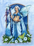 Moonflower Fairy Cross Stitch Pattern
