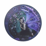 Purple Fairy & Dragonfly Wall Clock