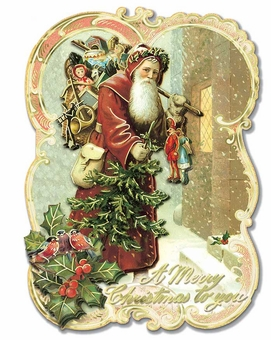 Old Santa Christmas Cards