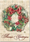 Ornament Wreath Christmas Cards