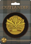 Outlander Crown & Thistle Patch