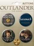 Outlander Quotes Button Set