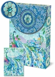 Pagoda Peacock Decorative Pouch Notecards