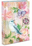 Painterly Bird Brooch Flap Journal