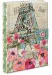 Paris Sparkle Brooch Flap Journal