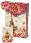 Paris Sparkle Decorative Pouch Notecards