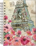 Paris Sparkle Spiral Bound Journal