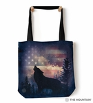 Patriotic Howl Tote Bag