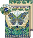 Peacock Butterfly Patchwork Collage Note Pad