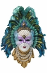 Peacock Feather Mask Wall Plaque