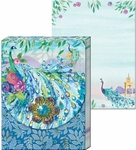 Peacock Pagoda Brooch Mini Notepad